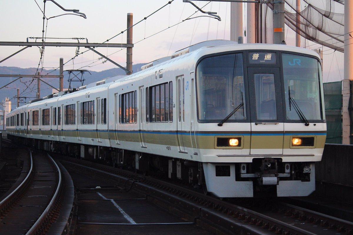 2018年最初の221系の播但線運用の5610Mは未更新・幌なしのB18 京口にて 播但線運用 pic.twitter.com/phaJ3tAWQ6