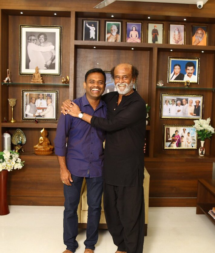 Rajinikanth with Raju Mahalingam