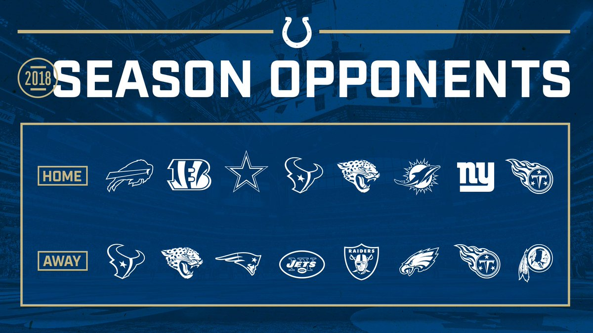 Colts announce 2018 regular season opponents | Colts Wire