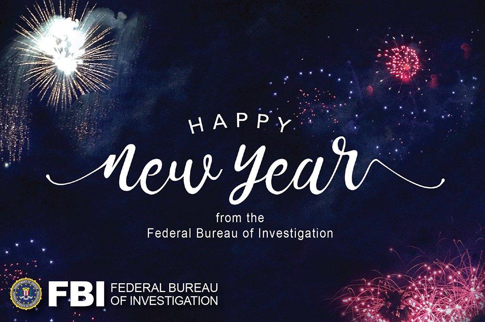 The #FBI wishes you a safe & #HappyNewYear!