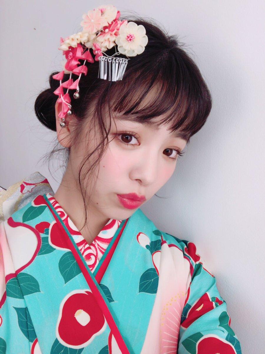 横田真悠の着物画像