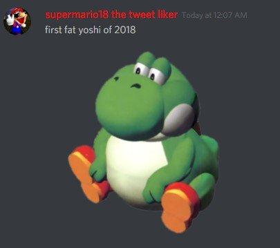 Eman At Irisanchez On Twitter First Fat Yoshi Tweet Of 2018