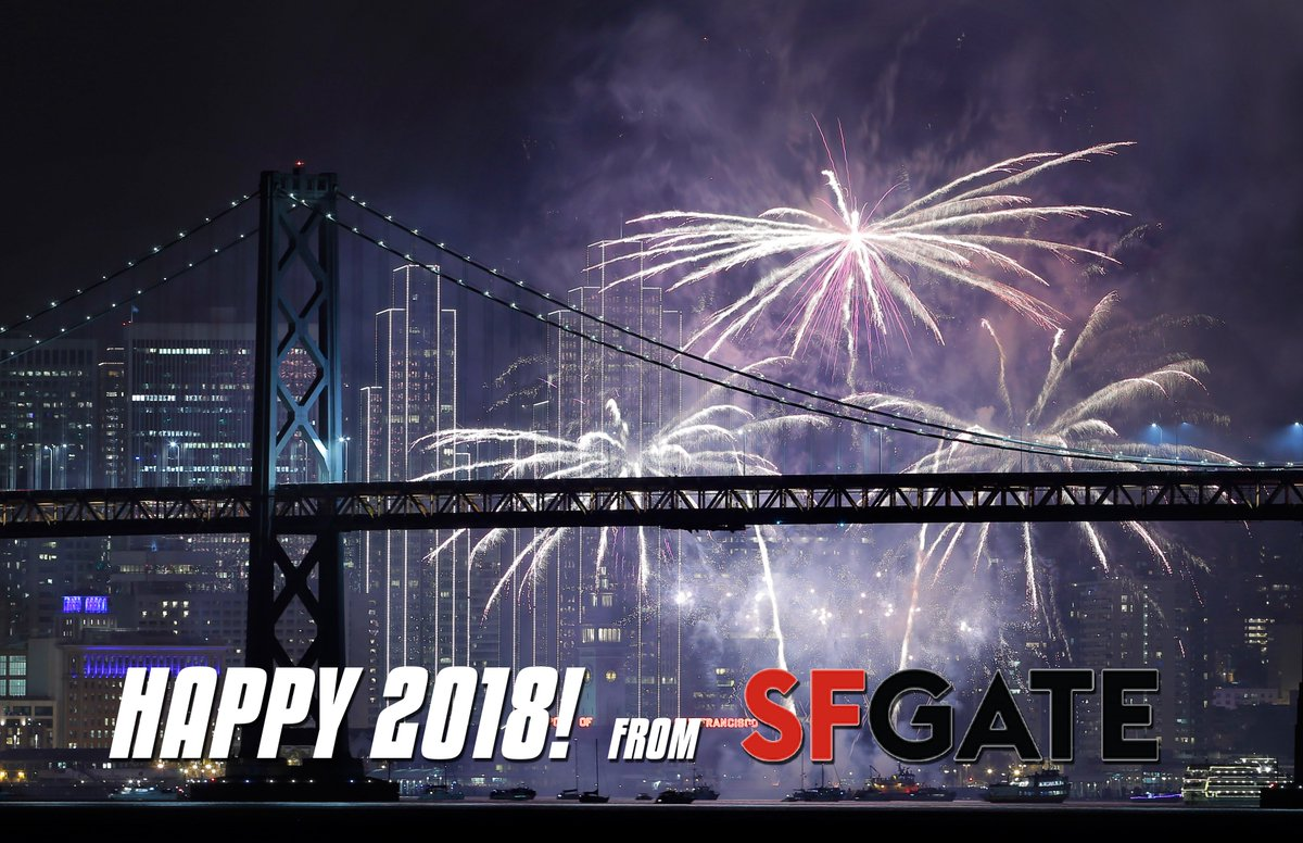 happy new year welcome 2018 from san francisco