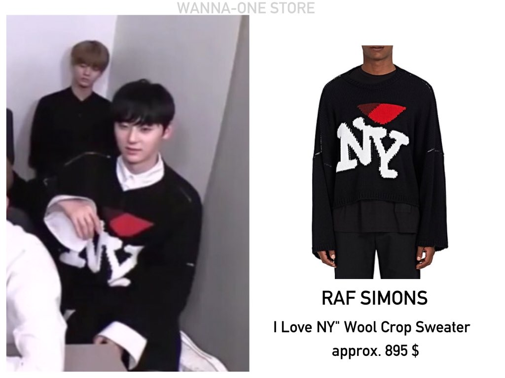 Wanna One Store On Twitter Raf Simons I Love Ny Wool Crop