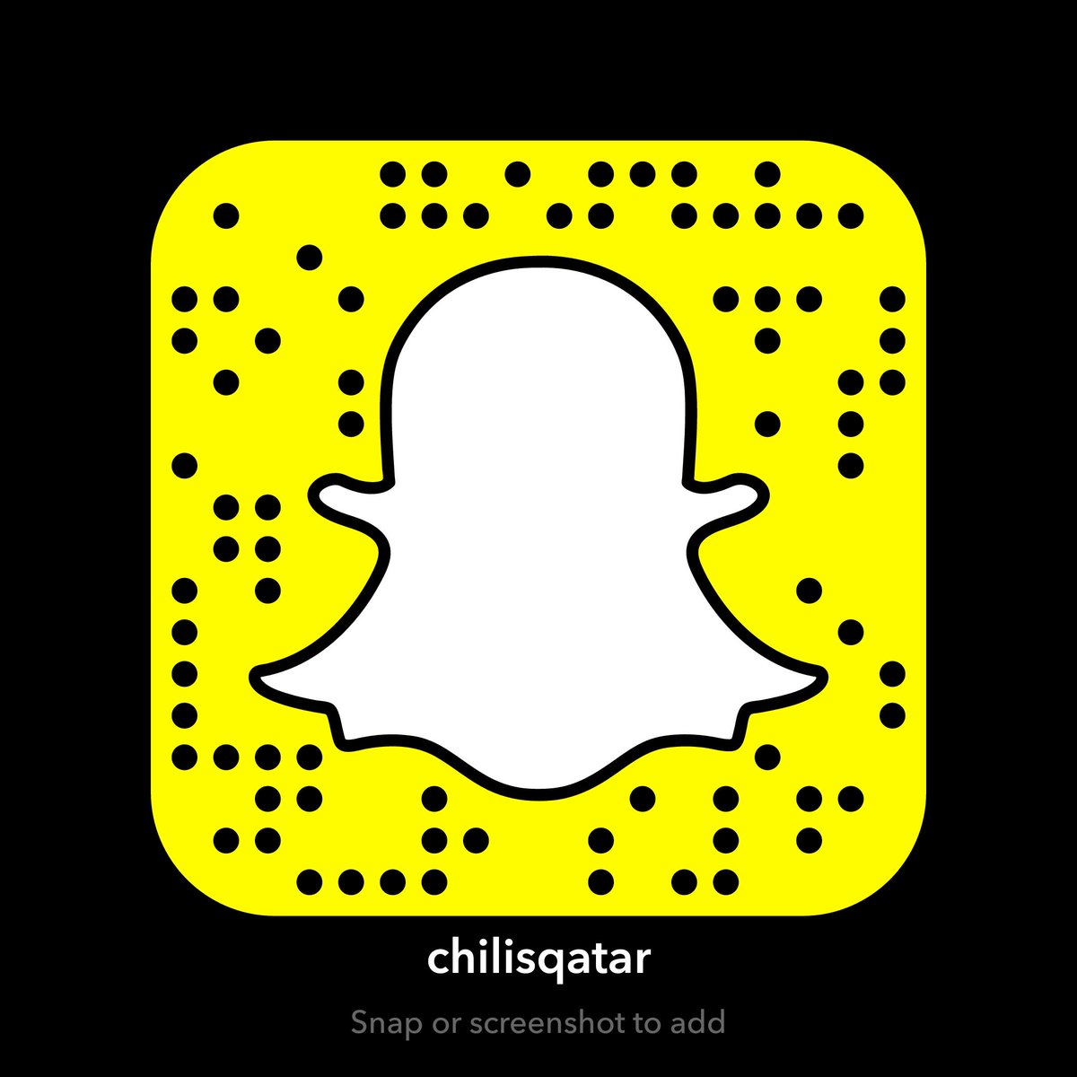 Chilis qatar on twitter hello everyone add us on snapchat to add us on snapchat to stay updated with the latest news promos offers and surprise from chilis qatar chiisqatar httpst73c0uc6g4z thecheapjerseys Gallery