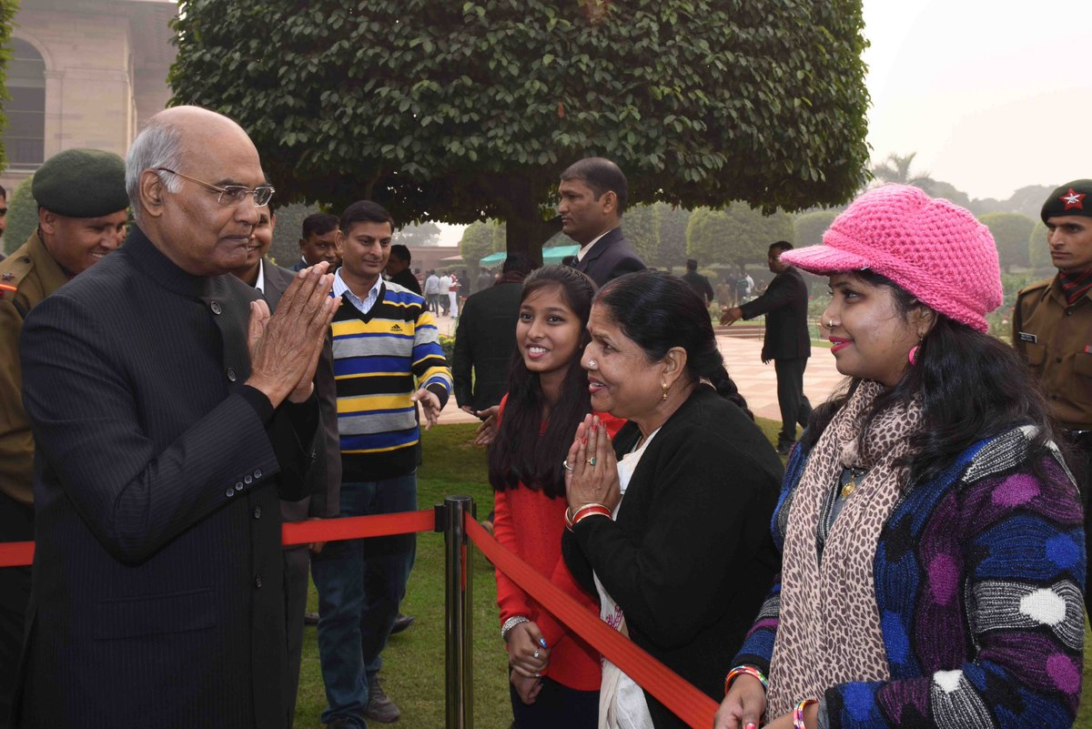 President of india on twitter presidentkovind received new year 127 am 1 jan 2018 kristyandbryce Choice Image