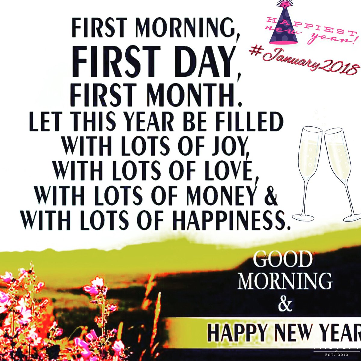 Attractive Be Always Happy Wishing You All A Marvelous Year 2018 #goodmorning  #january2018 #GOD #PRAY #FAITH #POSITIVE #OPTIMIST #LIFE #TRUST #NEWYORK  #NAMASTE #ॐ #OM ...