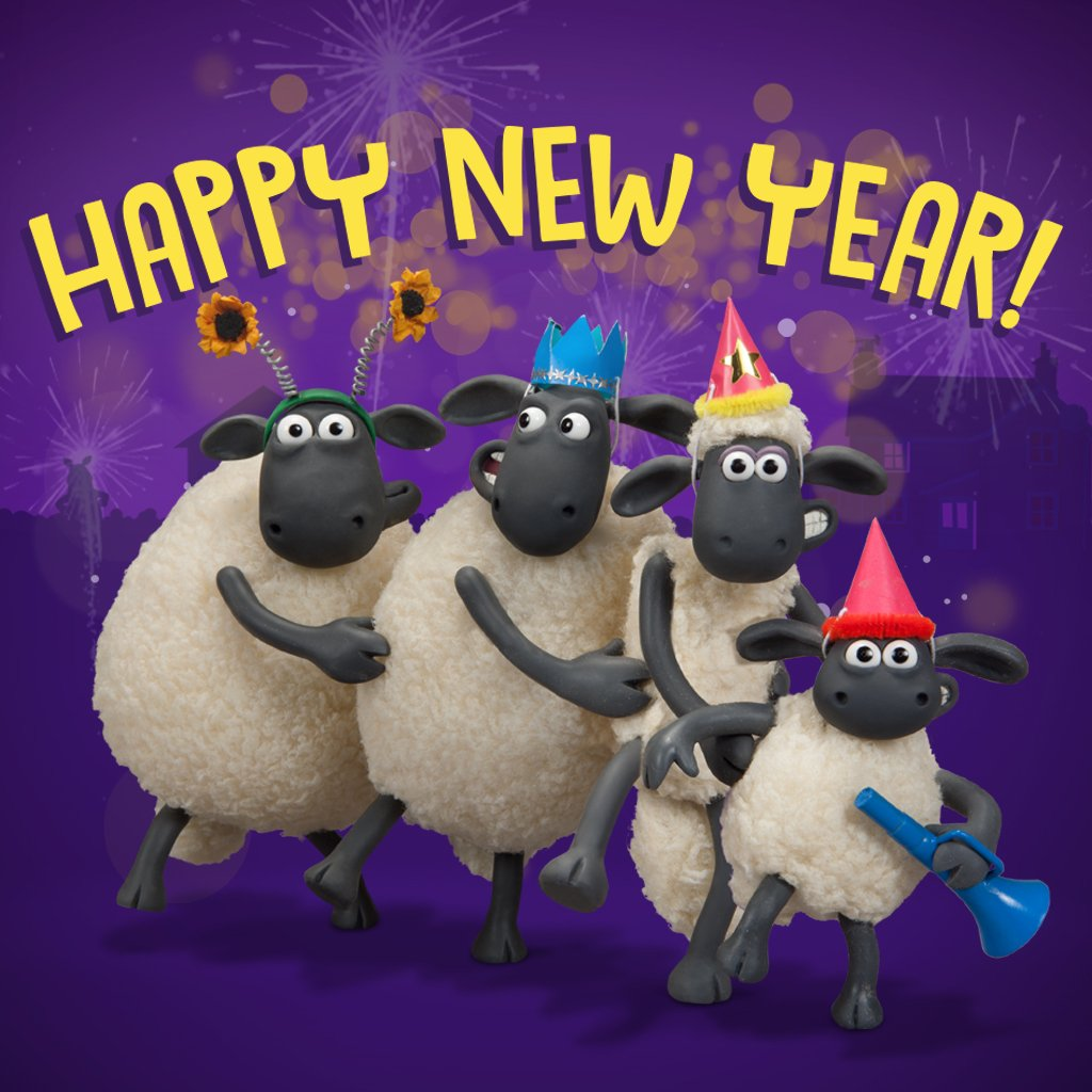 shaun the sheep on twitter heres wishing you and your flock a baa rilliant 2018 2018 happynewyear