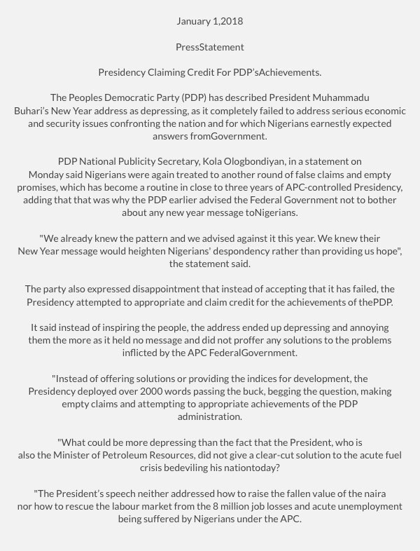 Official PDP Nigeria on Twitter: \