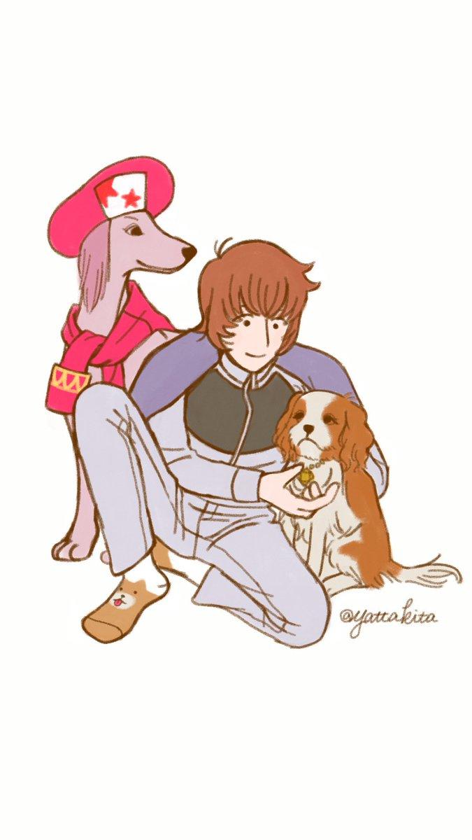 いぬいぬいぬいぬ戌年 あけましておめでとうございます🐕 犬だーーーい好き♡今年もたくさんお絵かきして、何かできたらいいなっ♪  #クラシカロイド #ClassicaLoid #モツ #チョッちゃん #リッちゃん #お絵かき矢田喜多
