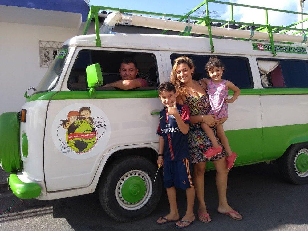 Com duas crianças, família do Rio Grande do Norte vai contornar o Brasil em uma Kombi https://t.co/vTTmq7HZSZ