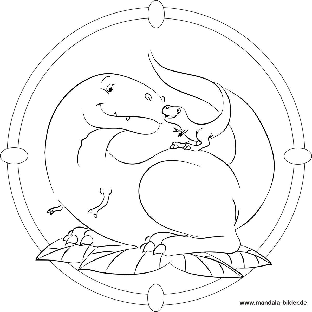Dinosaurier Ausmalbilder Kostenlos Ausdrucken : Mandala Bilder Mandalabilder Twitter