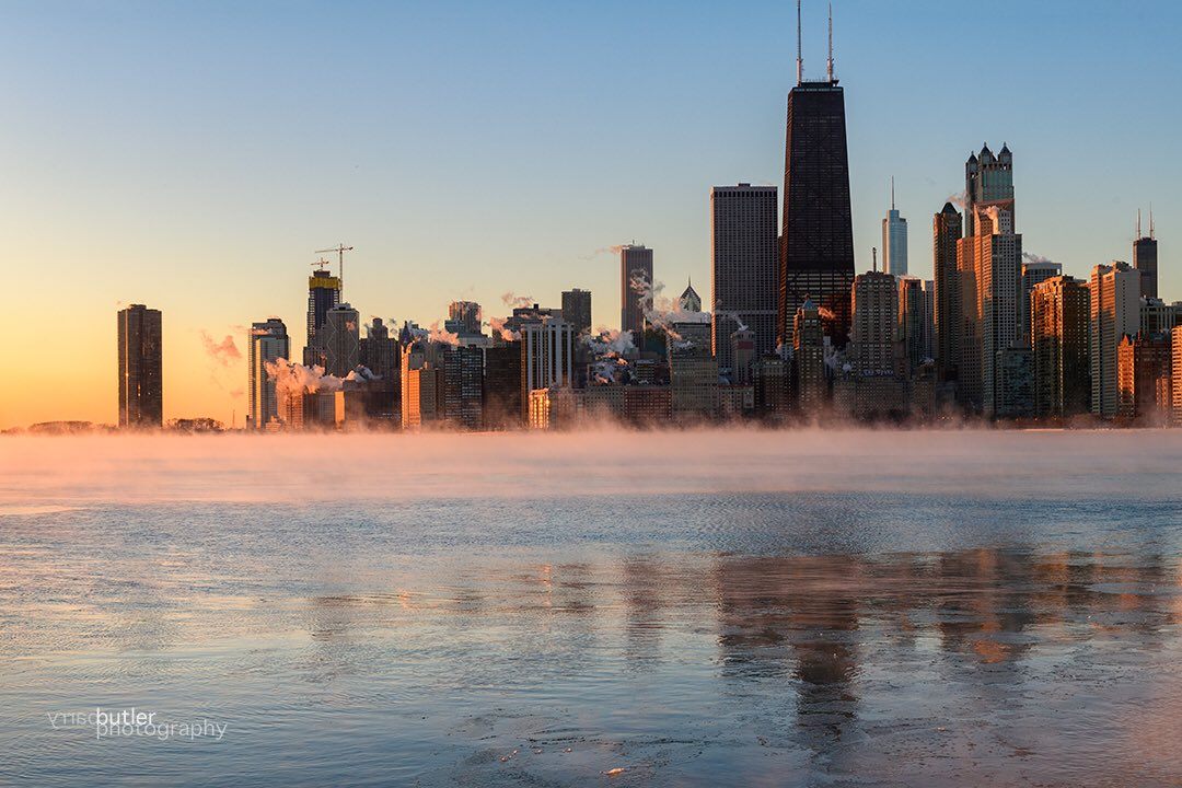 barry butler on twitter first chicago sunrise january 1 2018 ilwx weather news chicago happynewyear