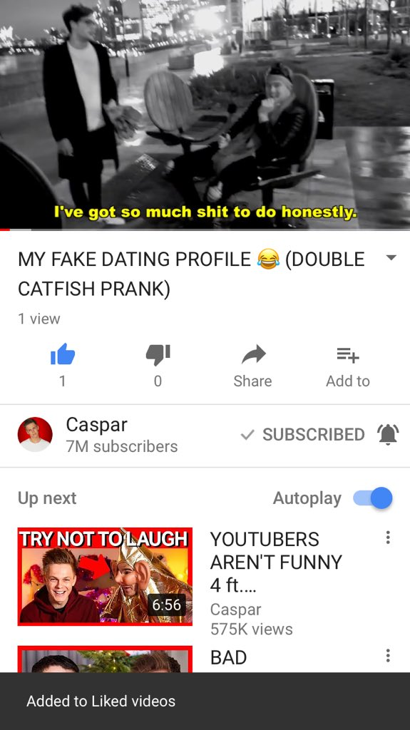 Prank dating profile