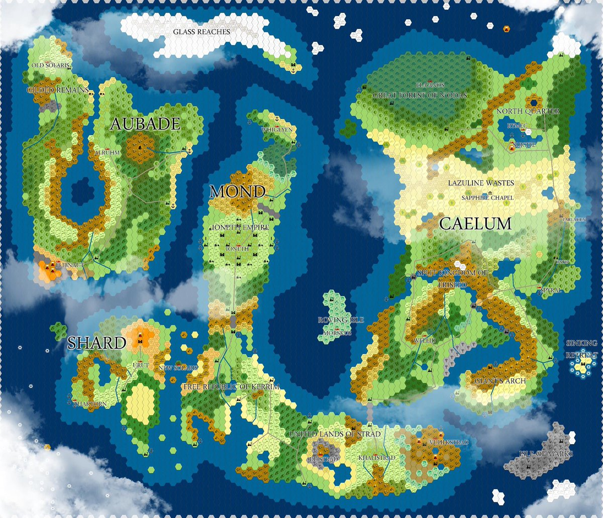 Snickelsox on twitter mapmonday show me your maps this is a every hex is about 50 miles and there are tons of villages and such that are not labeled the players started in the forest on the far middle right gumiabroncs Images