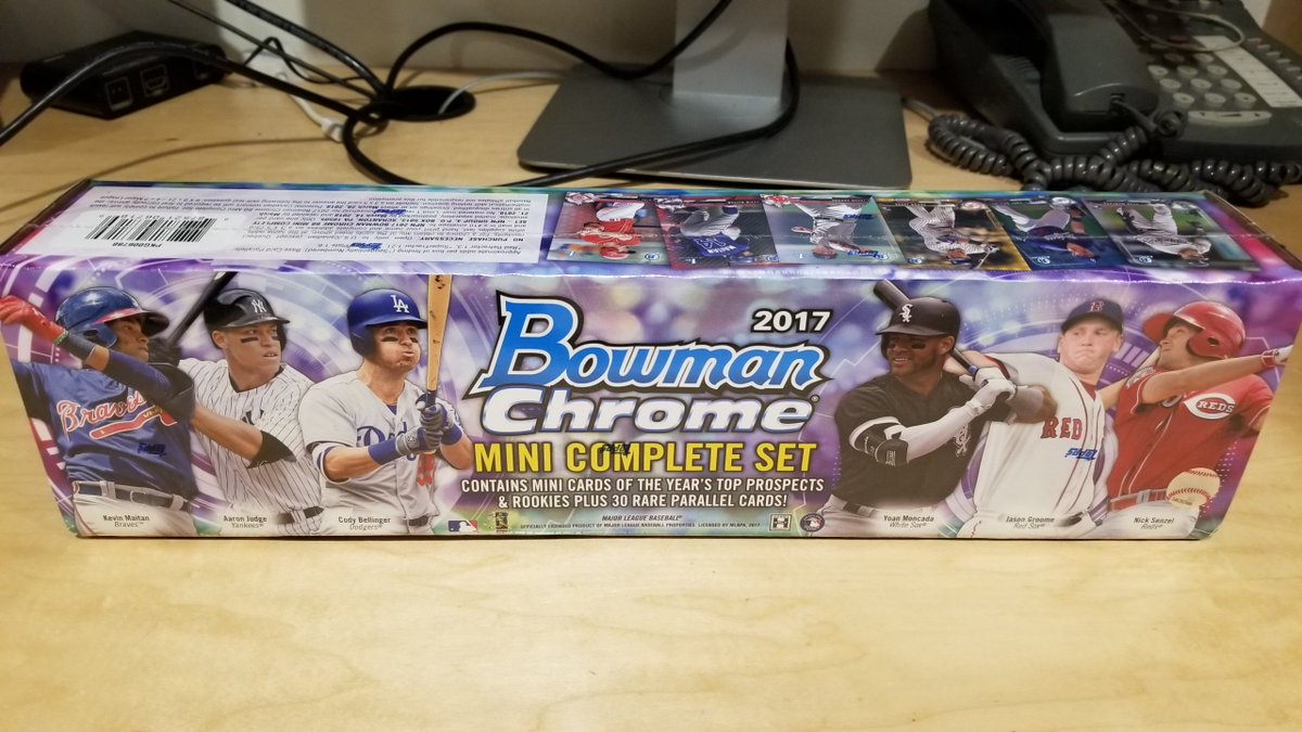 #HappyNewYear, indeed.     We have EIGHT of these @BowmanCards sets to give away. RT for a chance to win. #MLBCards