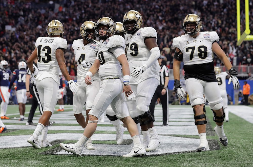 Statement. Made.  UCF completes the perfect season with a 34-27 victory over Auburn in the #CFAPeachBowl