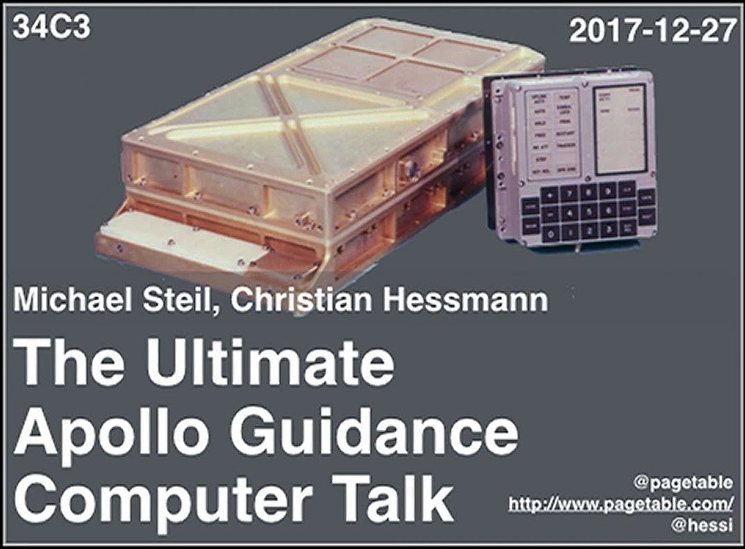 Ian Kluft On Twitter The Ultimate Apollo Guidance Computer Talk Europes Chaos Club Ccc Detailed Look At Internals Of Spacecraft Computers