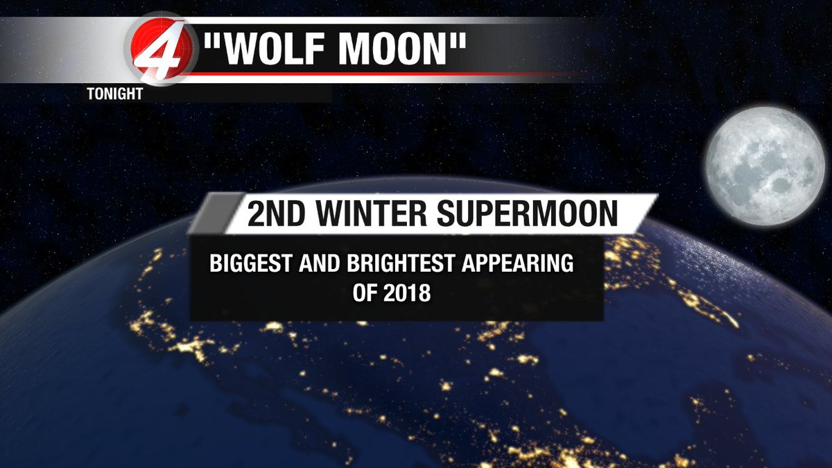#WolfMoon is already out. Bundle up as you take a gaze. Be sure to share your photos with us as well. #nmwx