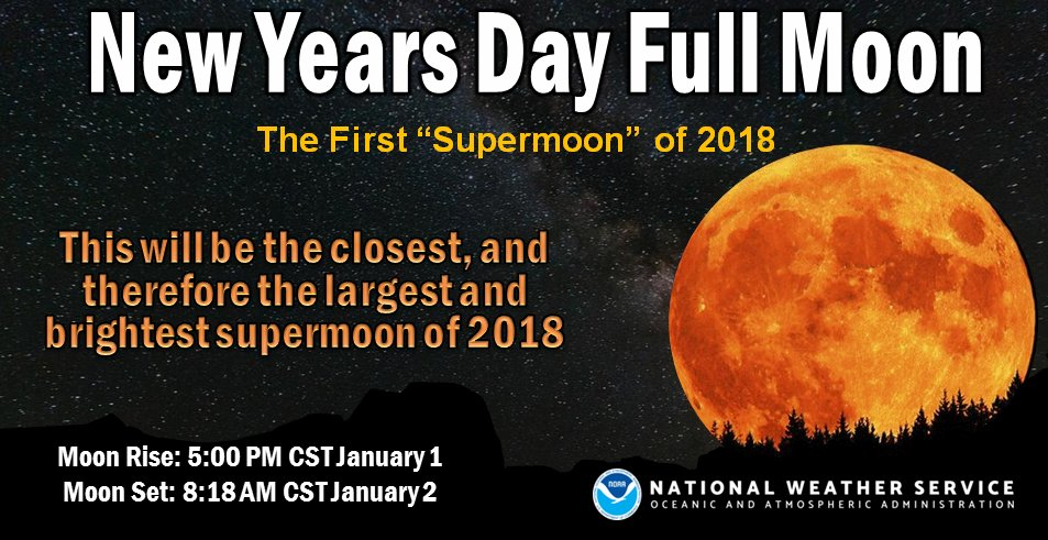 Notice the full moon tonight? The #WolfMoon is the first full moon of 2018 and is also a #supermoon.