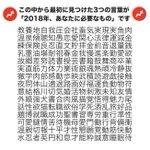 何が必要?この漢字の中から最初に見つけた3つの言葉が2018年あなたが必要なもの!