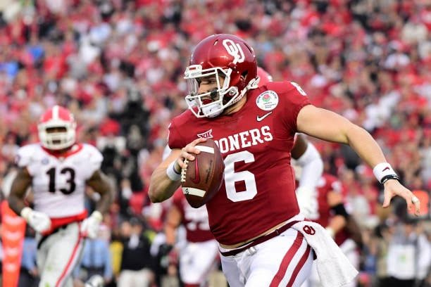 Called too short.   Only FAU, New Mexico & Rice offer.  Walks on to Texas Tech.  Wins QB job.  Gets Hurt.  Transfers.  Walks on to Oklahoma.  Becomes three-year starter.  Leads Sooners to 34 wins in 40 games.  Wins 2017 Heisman.  Hell of a run, Baker Mayfield.