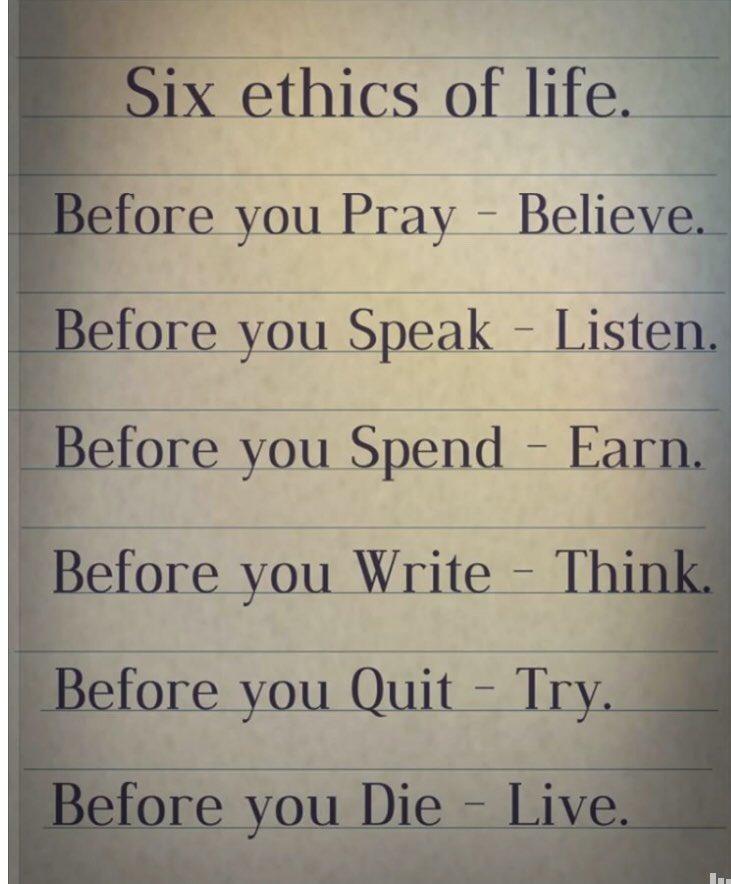 jeff mccanna on twitter six ethics of life