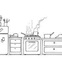 Colorear Dibujo On Twitter Colorear Dibujos De La Cocina Y