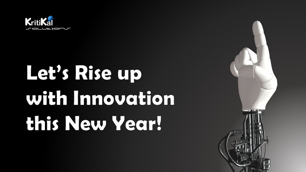 kritikal solutions on twitter our resolution for the new year innovate innovate innovate kritikal solutions wishes everyone a happy newyear2018