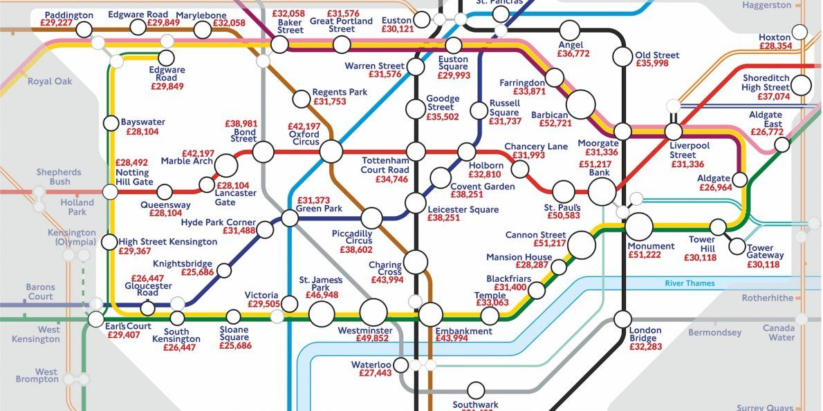 Areas Of Central London Map.Business Insider Uk On Twitter A New Tube Map Has Revealed The