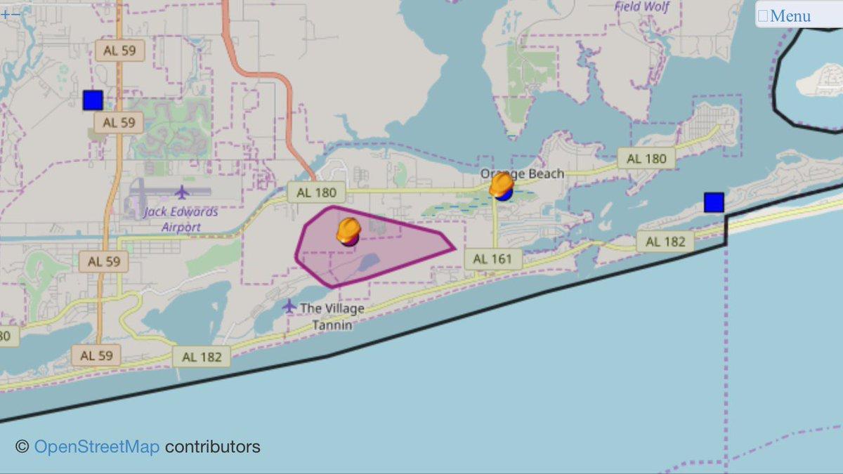 Power Outage Map Al.City Of Orange Beach On Twitter Good Morning Baldwin Emc Is