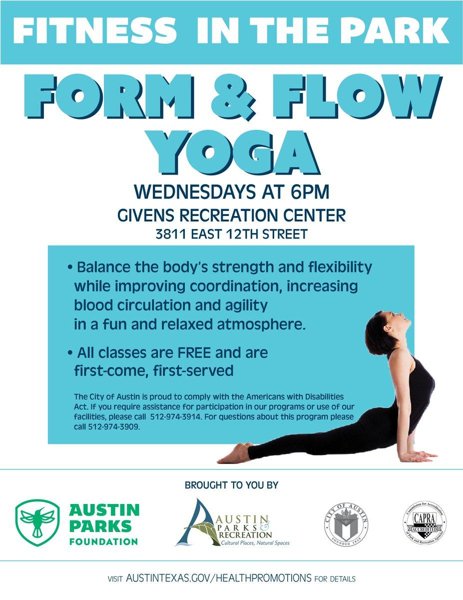 "free form yoga  Austin Parks & Rec on Twitter: ""Get your yoga flow on ..."