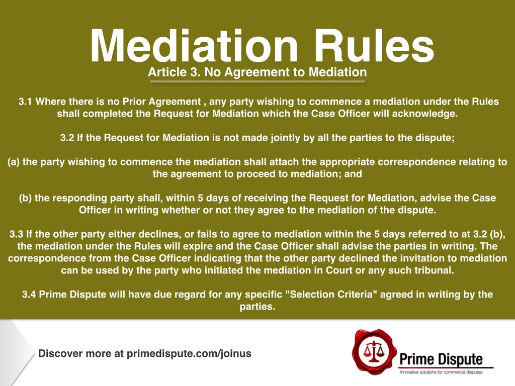 Prime Dispute On Twitter Article 3 Key Steps No Agreement To