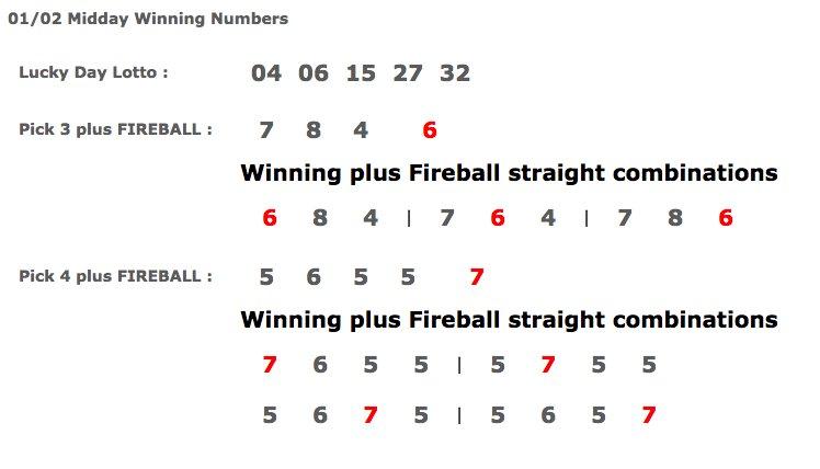 Pick 3 Winning Numbers Il | Pick 4 Midday | ImgBos com