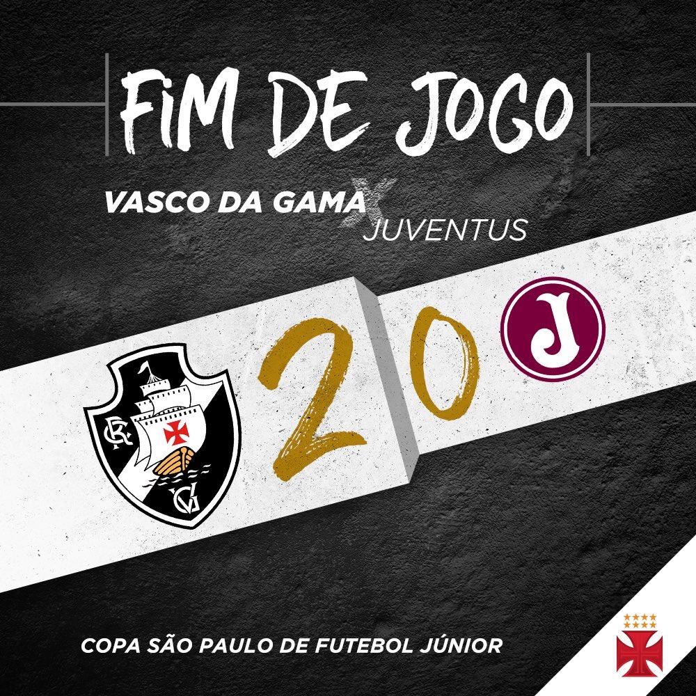ESTREIA COM VITÓRIA! Com gol do Hugo Borges e do Léo Reis, o Vasco venceu o Juventus (SP) por 2x0 na primeira rodada da Copa São Paulo! #VascoNaCopinha2018