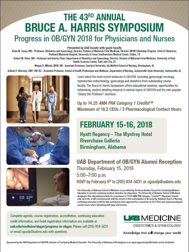 Uab Medicine On Twitter Save The Date 43rd Annual Bruce A Harris