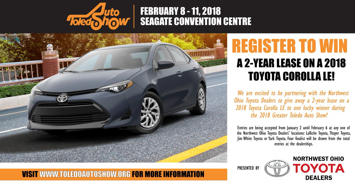 Presented By The Northwest Ohio Toyota Dealers Visit Http Www Toledoautoshow Org For More Information Pic Twitter Ymms3wrjuw