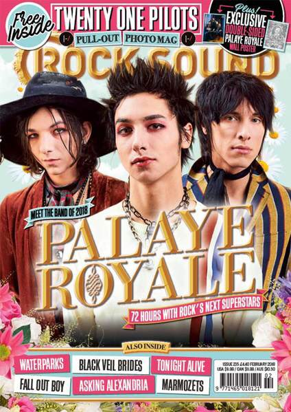 PALAYE ROYALE'S FIRST MAGAZINE COVER AND I AM WEARING A DRESS!  THANK YOU @rocksound!    Which bundle are you getting?   Link: https://t.co/oRONTakJTs
