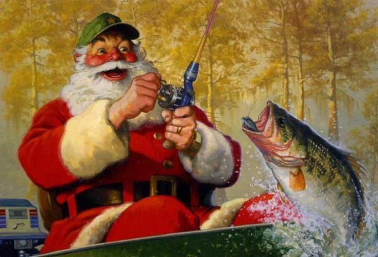 Открытки рыбаку в новый год