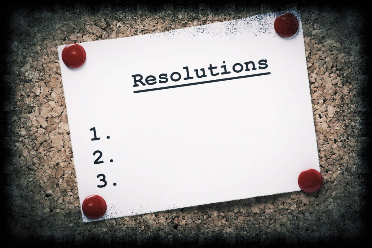 Alright, time to get real. We are two days into the New Year, what were your resolutions and who has already thrown in the towel?