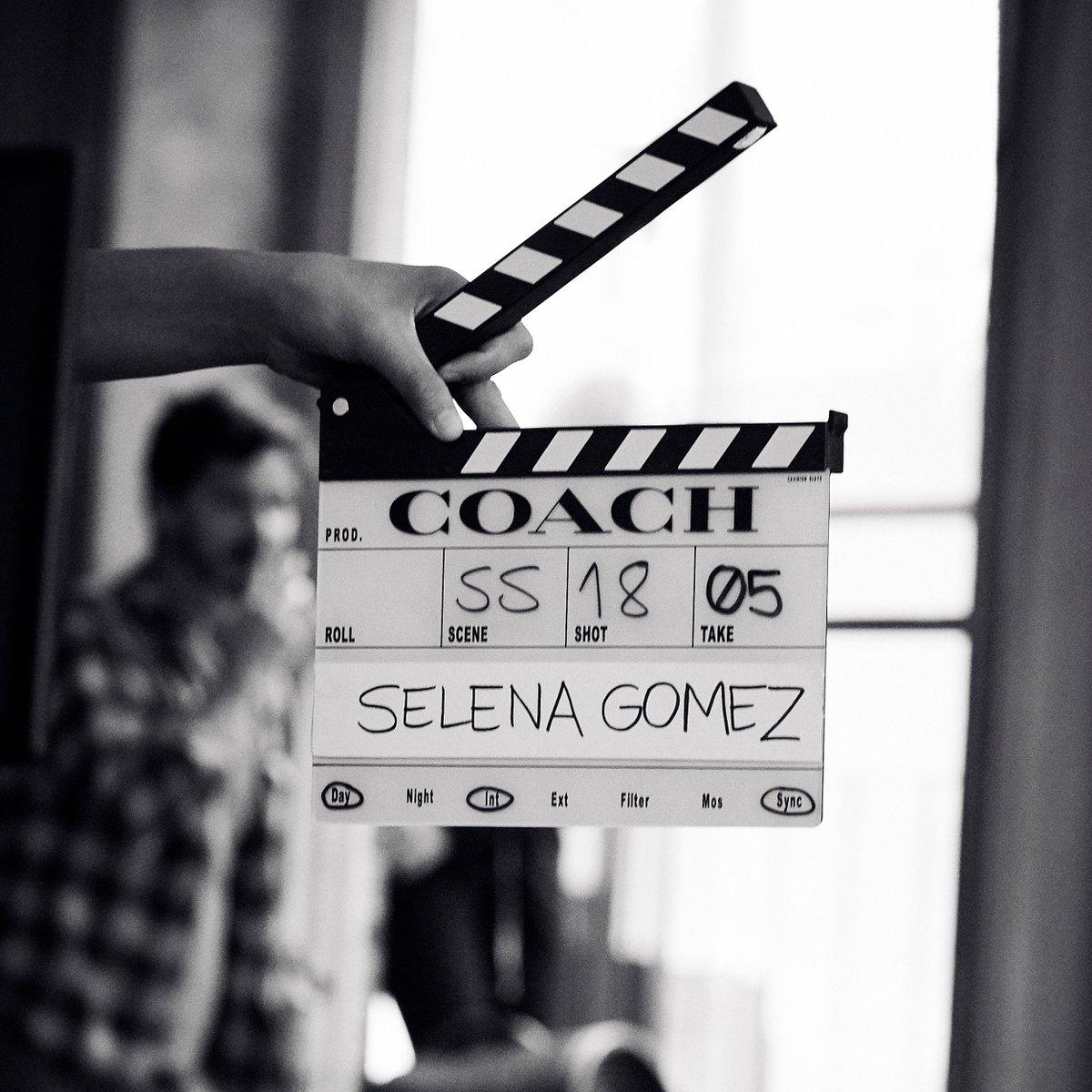 🎬 #CoachxSelena...coming soon.  #CoachSS18 #SelenaGomez #CoachNY