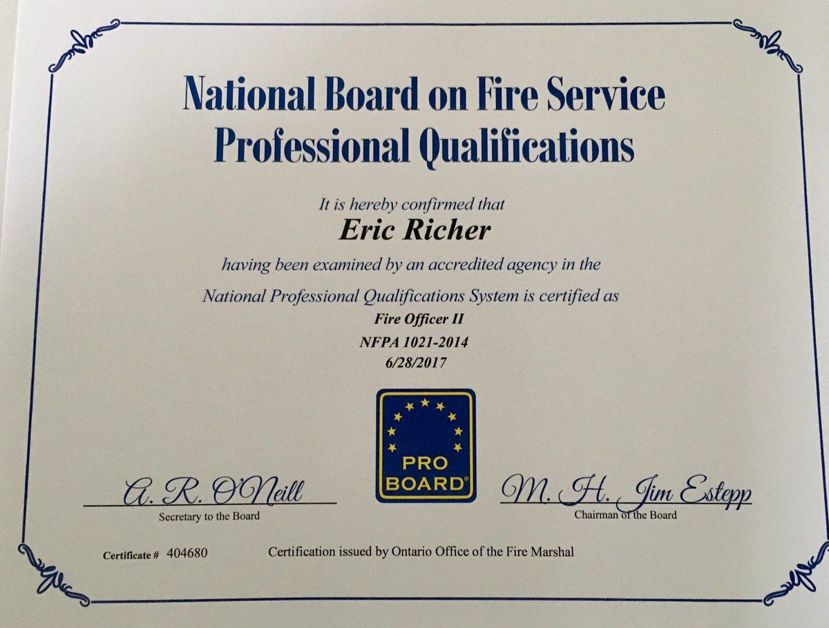 Eric On Twitter Great Way To Start Off 2018 Nfpa1021 Foii