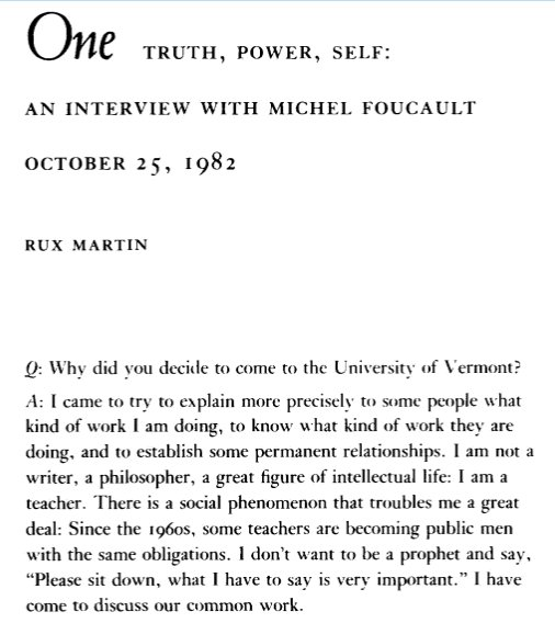 foucault truth and power According to foucault, power is omnipresent marx and marxist thought seeks to unravel that ideological stratum to get down to truth.