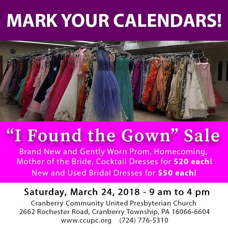 CCUPC Closet Classic & I Found the Gown Sales (@CCUPCsale) | Twitter
