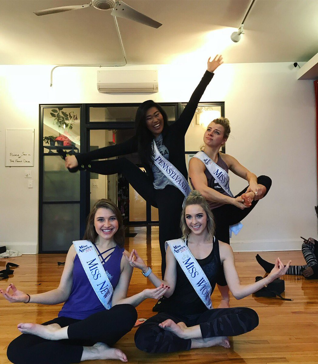 Miss New York On Twitter Are The Miss America Girls Working Hard Or Hardly Working Haha Feeling Refreshed And Rejuvenated After An Awesome Yoga Class At Sonicyoga Thank You Sonic Yoga