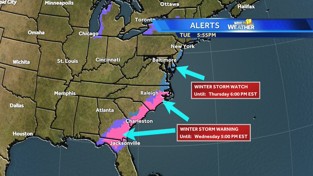 Tom Tasselmyer On Twitter Winter Storm Warnings For Charleston Sc