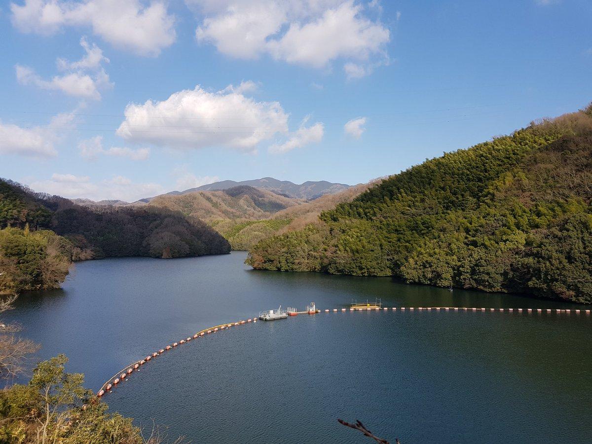 賀正、松山辺りのダムで