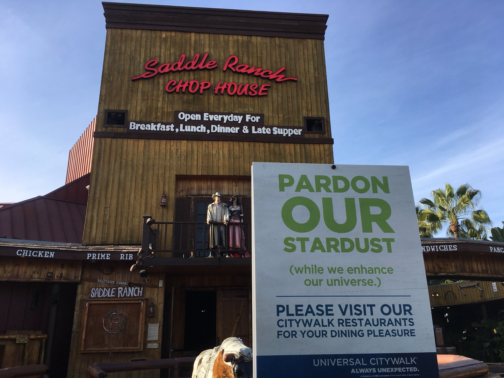 Inside Universal On Twitter Saddle Ranch Has Officially Closed At Citywalk Hollywood
