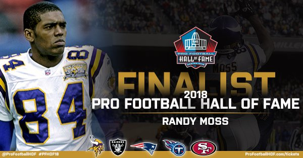.@RandyMoss has been named a #PFHOF18 Finalist!