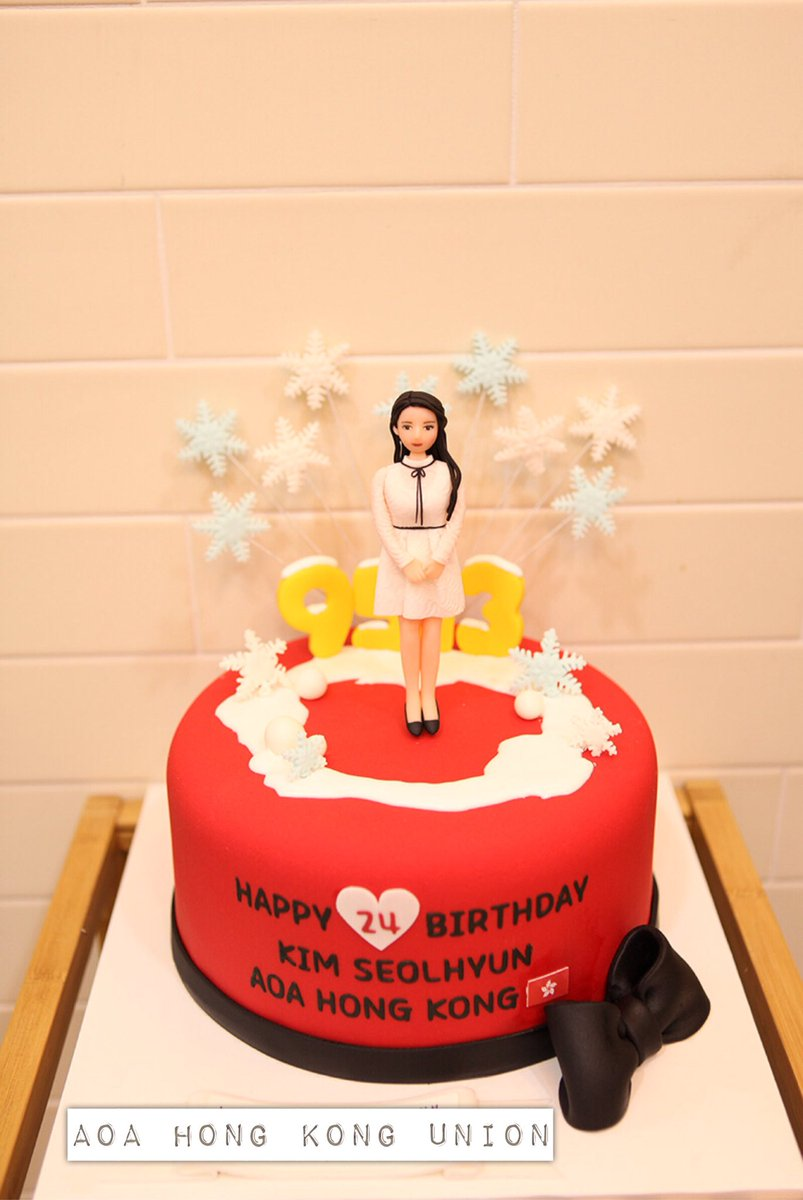 AOA HONG KONG UNION On Twitter Our Birthday Cake For Seolhyun Has Been Successfully Delivered To Her HappySeolHyunDay SeolHyunDay